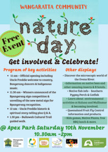 Wangaratta Community Nature Day flyer - 10 November 2018