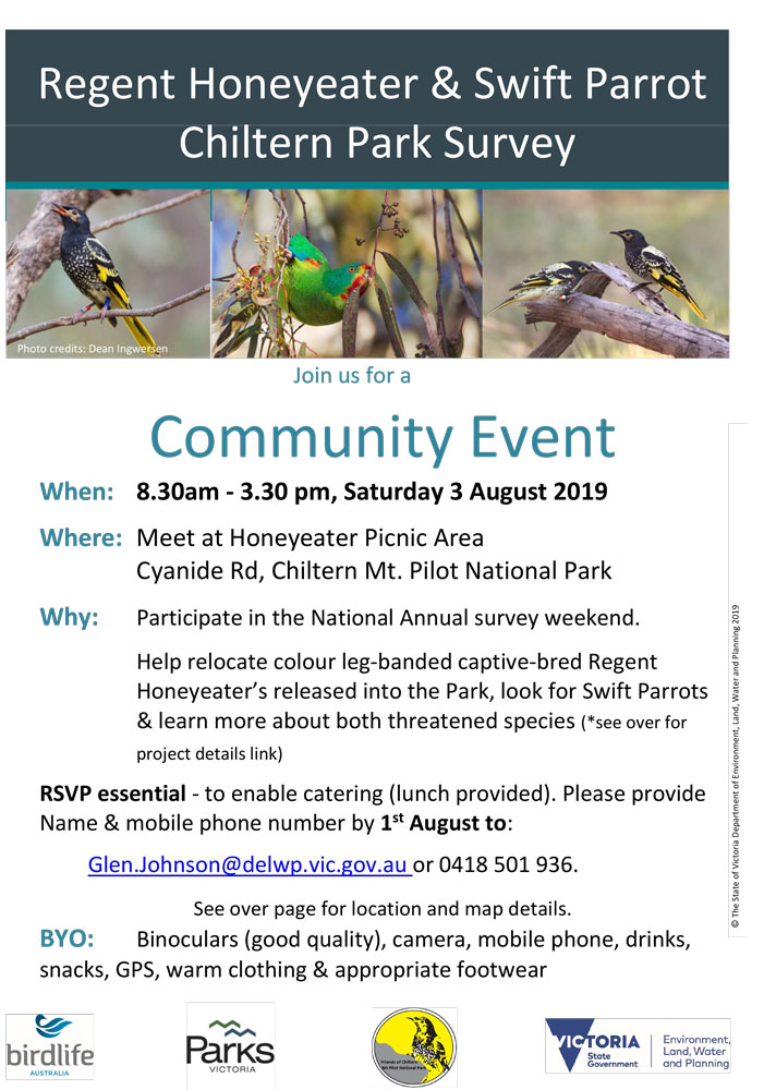 Chiltern bird survey event flyer
